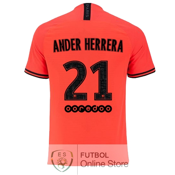 Camiseta Ander Herrera Paris Saint Germain 19/2020 Segunda
