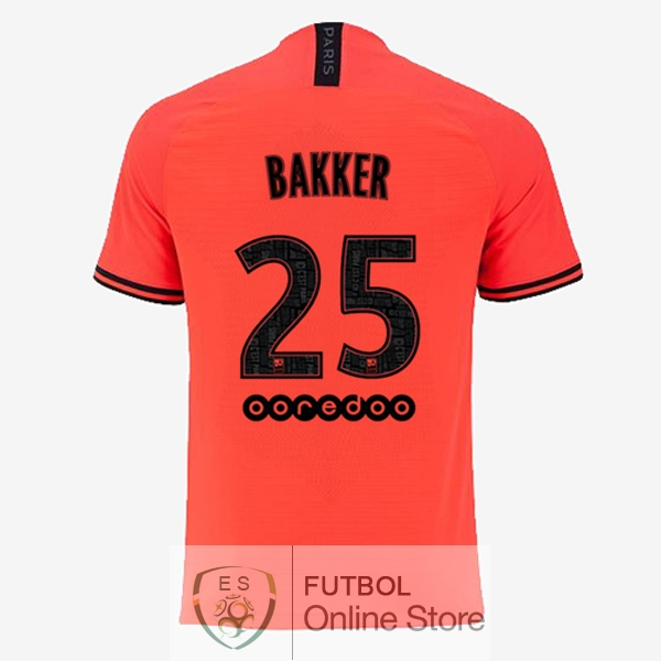 Camiseta Bakker Paris Saint Germain 19/2020 Segunda