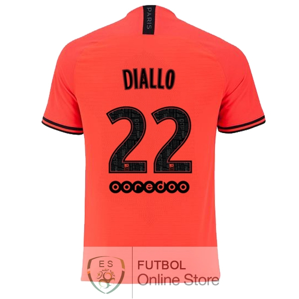 Camiseta Diallo Paris Saint Germain 19/2020 Segunda