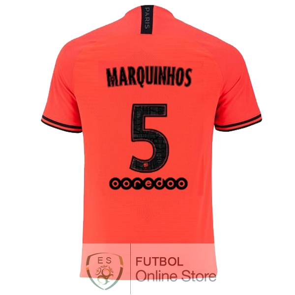 Camiseta Marquinhos Paris Saint Germain 19/2020 Segunda