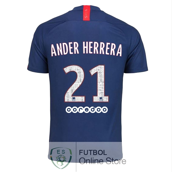 Camiseta Ander Herrera Paris Saint Germain 19/2020 Primera