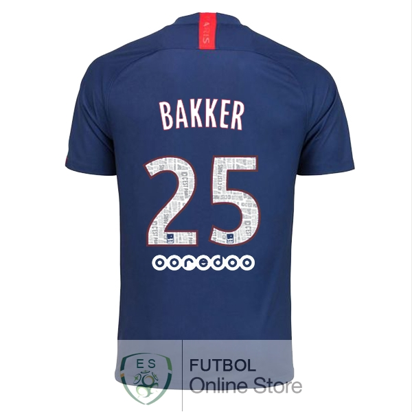 Camiseta Bakker Paris Saint Germain 19/2020 Primera