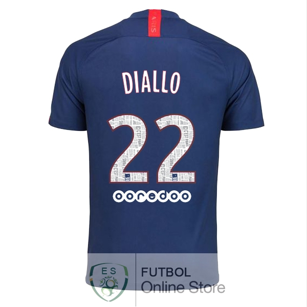 Camiseta Diallo Paris Saint Germain 19/2020 Primera