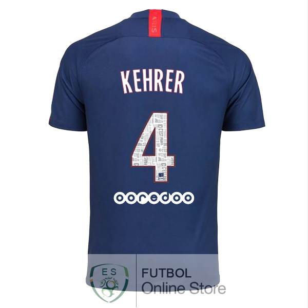 Camiseta Kehrer Paris Saint Germain 19/2020 Primera