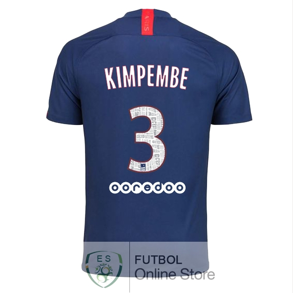Camiseta Kimpembe Paris Saint Germain 19/2020 Primera