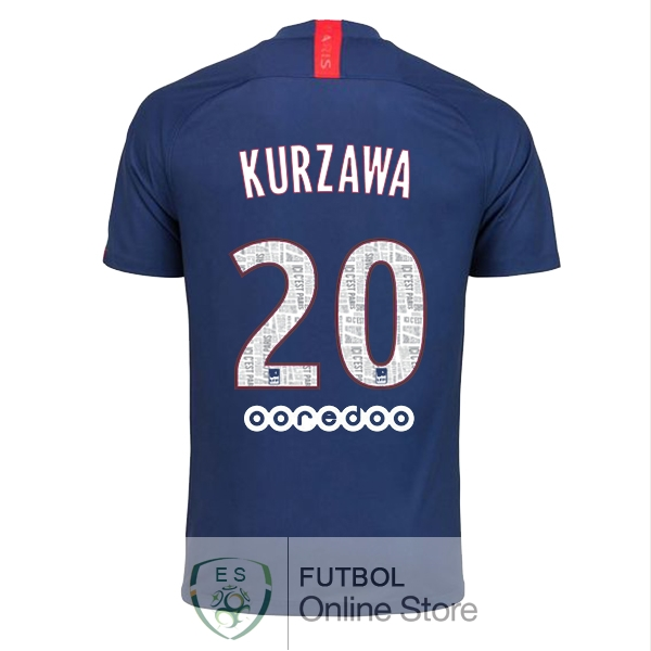 Camiseta Kurzawa Paris Saint Germain 19/2020 Primera