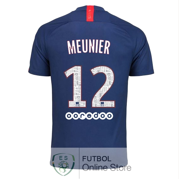 Camiseta Meunier Paris Saint Germain 19/2020 Primera