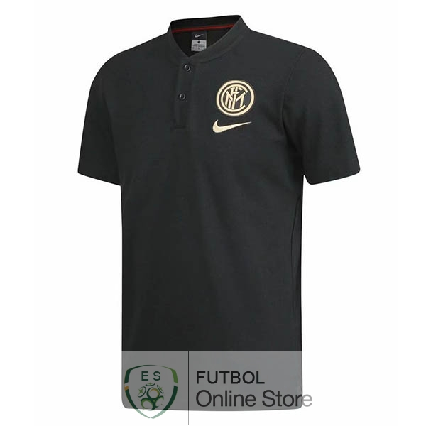 Polo Inter Milan Negro Amarillo 19/2020