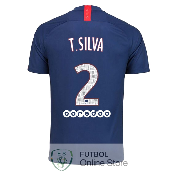 Camiseta T.Silva Paris Saint Germain 19/2020 Primera