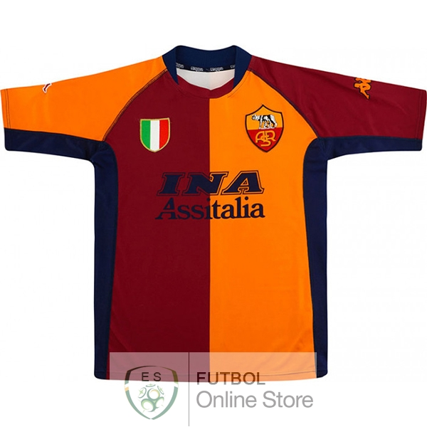 Retro Camiseta As Roma 2001 2002 Primera