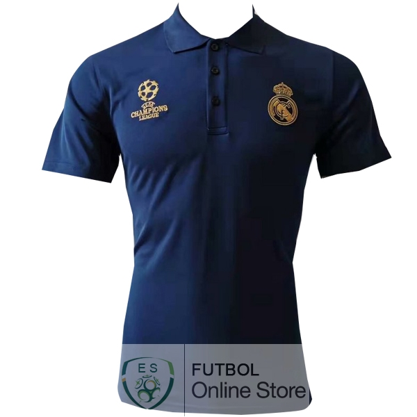 Polo Real Madrid Azul Amarillo 19/2020