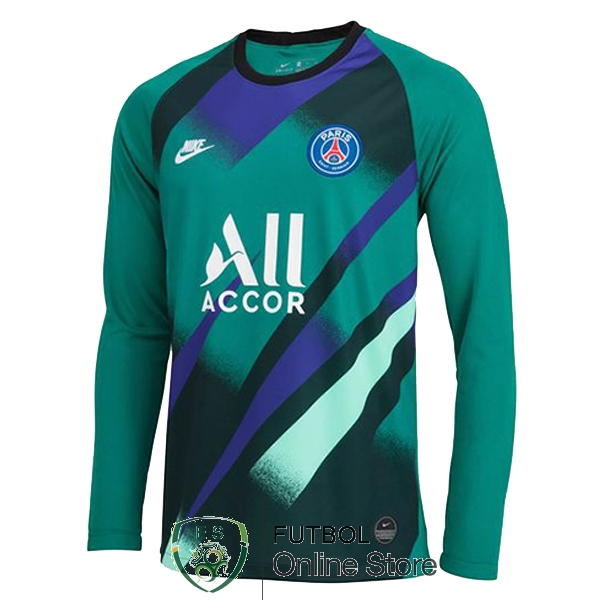Camiseta Paris Saint Germain 19/2020 Manga Larga Portero Verde