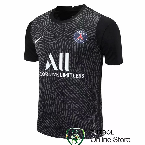 Camiseta Paris Saint Germain 20/2021 Portero Negro