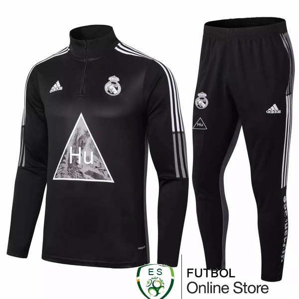 2020/21 Negro Gris Chaqueta Ensemble Complet Real Madrid