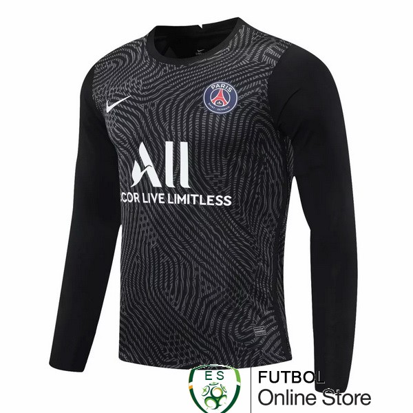 Camiseta Paris Saint Germain 20/2021 Manga Larga Portero Negro